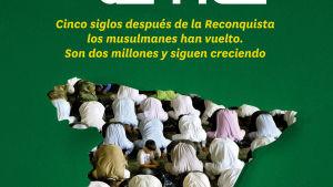 muslimit rukoilevat Espanjan kartan päällä