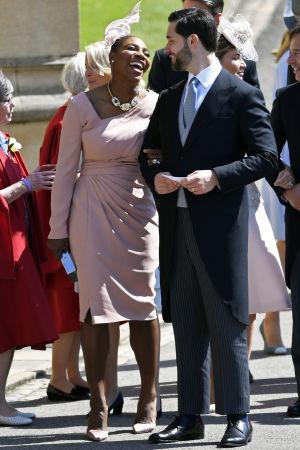 Den amerikanska tennisspelare Serena Williams och hennes man  Alexis Ohanian