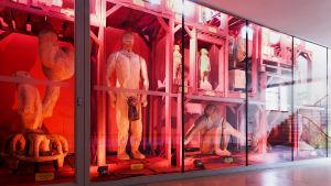 Skulptören Tapani Kokkos installation på Helsingfors stadsmuseum.