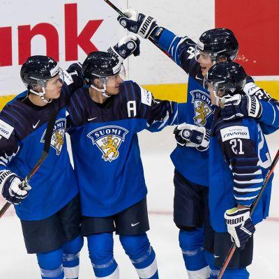 Kasper Puutio, Mikko Kokkonen, Henri Nikkanen och Mikael Pyyhtiä fick fira mål i premiären.