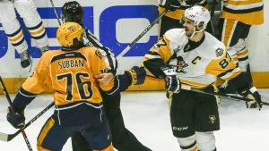 P.K. Subban och Sidney Crosby går dueller på många plan under Stanley Cup-finalerna.