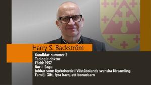 Grafikisk bild av Harry S. Backström.