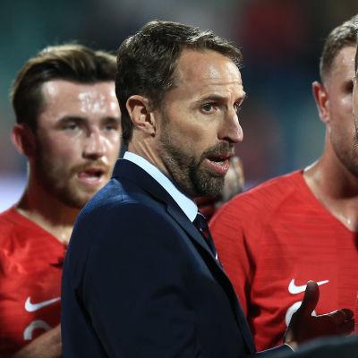 Gareth Southgate och hans landslag.
