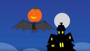 Halloween-animation på Toddler World TV.