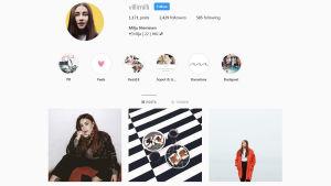 En Instagram-profil.