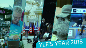 Hightlights of Yle's year 2018 such as Helsinki summit and Pyeongchang winter olympics.