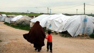 Flyktingläger i Syrien.