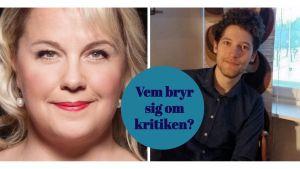 Sångerskan Anu Komsi och musikern Markus Bergfors.