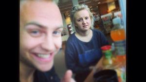 Janne och Fredrika.