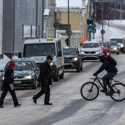 Oulun liikenne talvella 2021