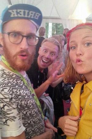 Petter Sandelin, Nicke Aldén och Märta Westerlund.