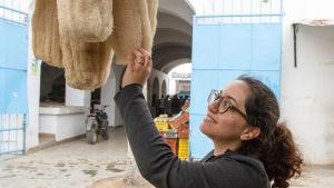 Olika sorters naturliga tvättsvampar är populära i Tunisien.
