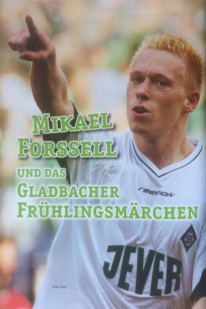 Mikael Forssell-porträtt i Borussia Mönchengladbachs medlemstidning Fohlenecho