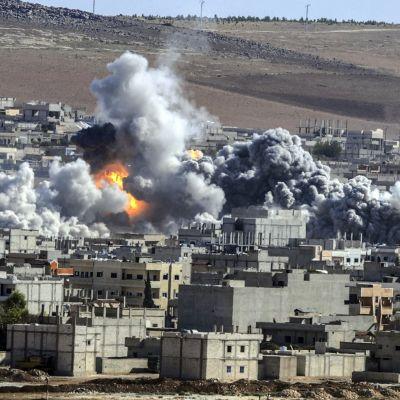 Staden Kobane i Syrien.