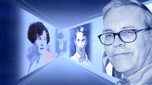 Peter von Bagh ja suomalaisia kulttuurikasvoja. Kuva sarjasta Sininen laulu