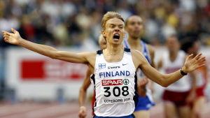 Jukka Keskisalo vinner EM-guld 2006 i Göteborg.
