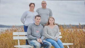 en fyra personers familj