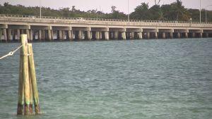 Havet syns överallt när man kör till Key Biscayne i Florida.