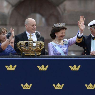 Kung Carl XVI Gustaf och drottning Silvia,