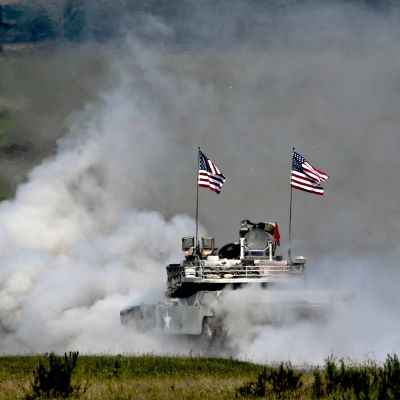 Amerikkalaistankki osallistui Naton ja rauhankumppanimaiden sotaharjoituksiin kaksi vuotta sitten Yhdysvaltain tukikohdassa Grafenwöhrissä, Saksassa.