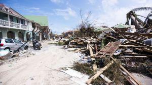 Förödelse på Saint Martin efter orkanen Irma.