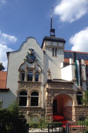 Den katolska studentnationen AV Guestfalias hus i Tübingen
