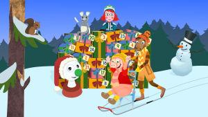 Figurer som finns med i BUU-appens julkalender.