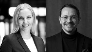 Potretit Johanna Tuurista ja Janne Saarisesta