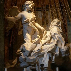 Den heliga Teresas extas, skulptur av Bernini.