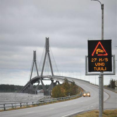 Vindvarning vid Replotbron, Korsholm.