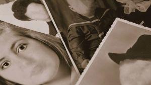 vanhoja mustavalkoisia kuvia, joissa kasvot eivät näy