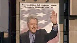 Bill Clinton julisteessa.