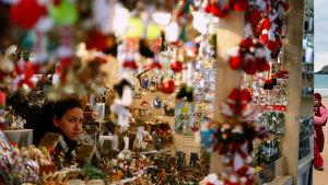 Julmarknad i Madrid.