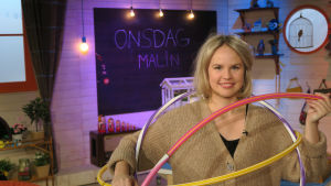 Malin Olkkola i BUU-klubbens studio