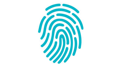 Symbolbild. Fingeravtryck.