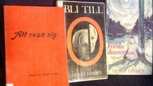 Några av Gurli Lindéns tidiga böcker
