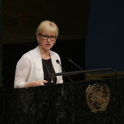 Sveriges utrikesminister Margot Wallström 27 april 2015.