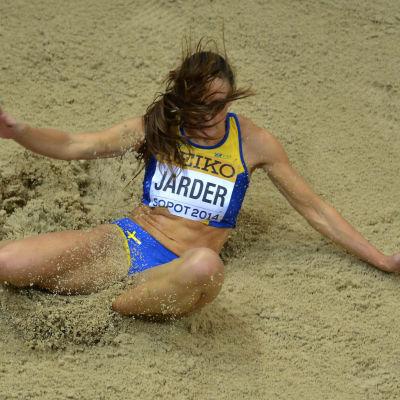 Svenskan Erica Jarder tog sig till final i längd.
