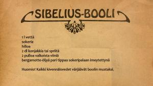 Sibeliuksen booliresepti