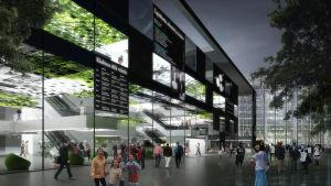 Centrumbiblioteket enligt artkitekternas ögon.