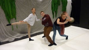 Wilma Sundqvist, Axel Hermansson och Freja Frankenhaueser är alla ivriga dansare.