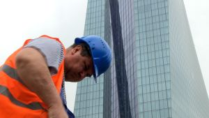 ECB:s nya skyskrapa i Frankfurt.