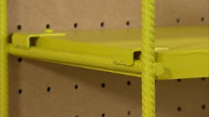 Stringhyllan är enkel och praktisk