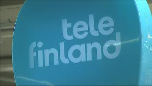 Tele Finlandin logo myymälässä