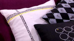 Lees dynor med geometriska mönster.
