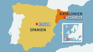 katalonien, karta