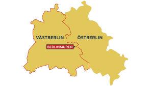 Muren delade Öst- och Västberlin