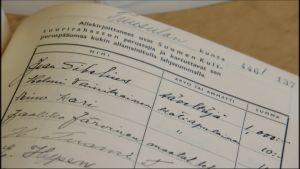 Suomen Kulttuurirahaston perustamiskirjoissa on lähes 180 000 suomalaisen nimet.