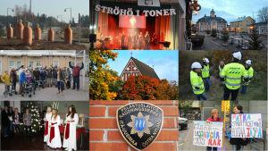 Ett fotokollage på bilder från Östnyland