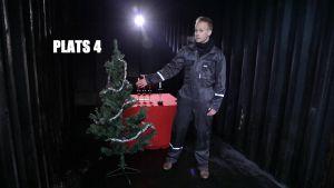 Johan Lindholm presenterar en platsgran